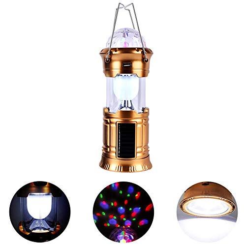 3 in 1 kampierende Laterne Faltbare LED-Partei-Stadiums-Licht tragbare Taschenlampe wiederaufladbare solarbetriebene mit USB-Anschluss für Wandern, Camping, Angeln, Hurrikane