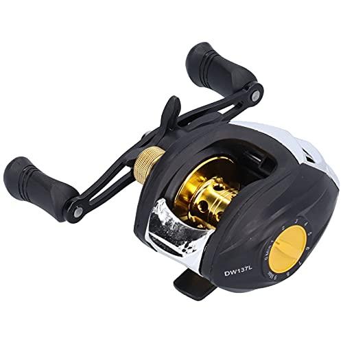 SALALIS Rueda de Pesca con Freno magnético, Carrete de Lanzamiento de Cebo Potente Sistema de frenado magnético Freno magnético de 9 velocidades con relación de transmisión de 7.2: 1 para Pescar