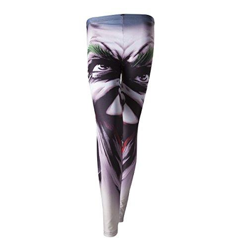 Injusticia - Batman de DC Comics Injusticia Joker Face Leggings de la hembra adulta (Medio, Blanco)