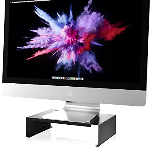 Newaner, supporto per monitor per computer, notebook, iMac, TV, stampante fino a 30 kg, colore: nero