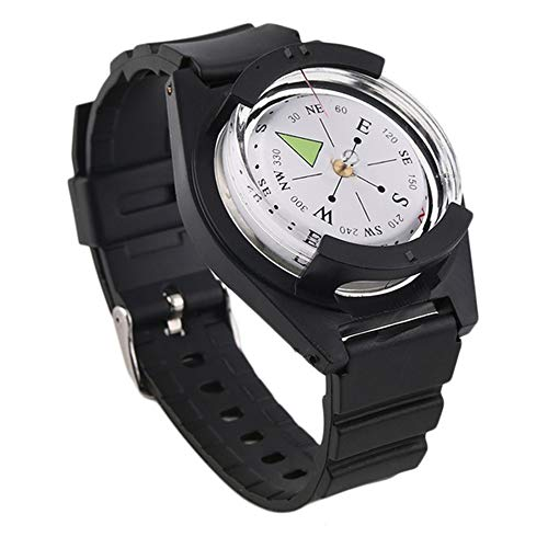 KBAYBO コンパス 腕時計式 方位磁石 方位磁針 携帯コンパス 羅針盤 ナビゲーションコンパス オイルコンパス 方向指示 高精度 防水型リストコンパス アウトドア 登山 防災 ハイキング用