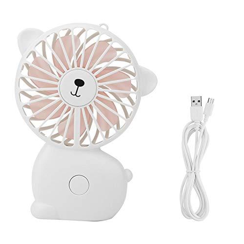 Neufday-USB Desktop Mini Handheld-Lüfter Nachtlicht Kühlung Belüftung für die Reise(Weiß)