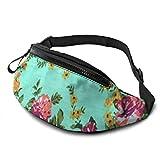 XCNGG Bolso de cintura corriente bolso de cintura de ocio bolso de cintura bolso de cintura de moda Rose in Color Fanny Packs for Women and Men Waist Bag Adjustable Belt for Outdoors Workout, Travelin