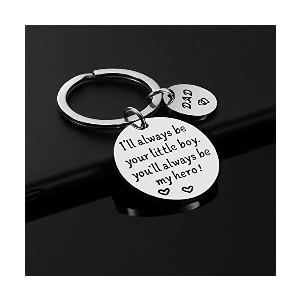 Father's Day Gift – Dad Gift from Daughter for Birthday, I'll Always Be Your Little Girl, You Will Always Be My Hero Keychain