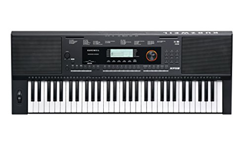 Kurzweil KP110 Portable Arranger Keyboard (Triple Strike Piano, 61 Tasten, 3-stufig einstellbare Anschlagsdynamik, über 200 Begleittracks, 6-spuriger Song-Recorder, 128-stimmig, LCD) schwarz