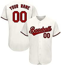 CustomEmbroideredBaseballJerseyDesignPersonalized TeamNameandNumberforThanksgiving Interesting Jerseys