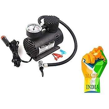 Worsun Enterprise Air Compressor Inflator Pump for car, Bike, tubeless tyre. 12V 300 PSI air Pump