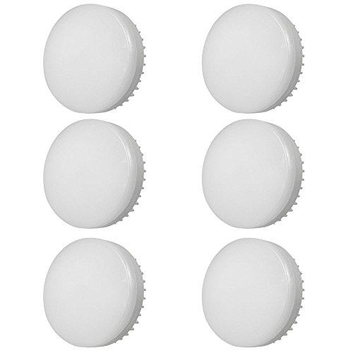 Daskoo 6er-Pack GX53 LED Lampe 9W Leuchtmittel Nicht Dimmbar Kein Flimmern Ersatz 70W Halogenlampen Warmweiß 3000K 900 Lumen120 Grad Winkel AC 85-265V CRI>80