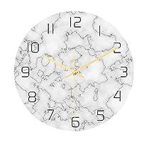 掛け時計 ホームオフィスの装飾のための創造的な大理石のパターンの壁時計ミュート壁時計クォーツ壁時計 自宅 寝室 部屋飾り 贈り物 インテリア