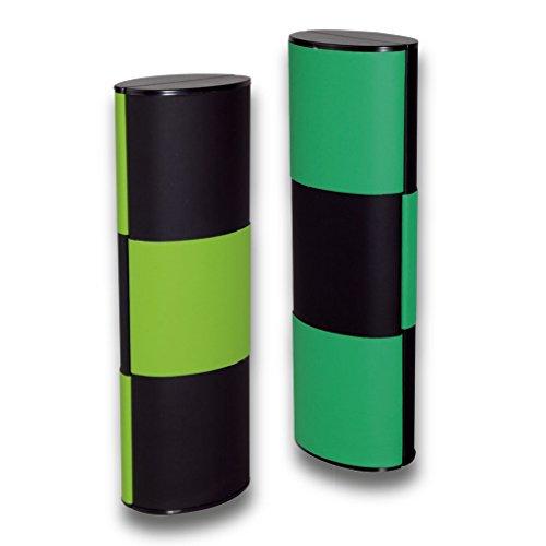 Lifestyle-Optik Zauberetui Brillenetui Logic MEDIUM LANG Bicolor 14115 mit Farbwechsel in schwarz-hellgrün/schwarz-dunkelgrün 180 Grad drehbar