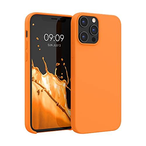 kwmobile Hülle kompatibel mit Apple iPhone 12 Pro Max - Hülle Handyhülle gummiert - Handy Hülle in Cosmic Orange
