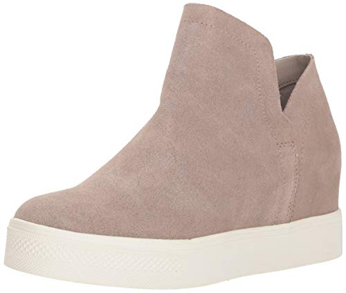 Steve Madden Women's Wrangle Sneaker, Taupe Suede, 7.5
