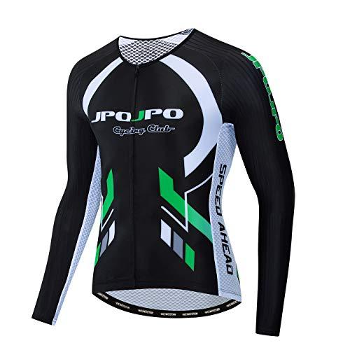 weimostar JPOJPO Mannen USA Fietsshirts met lange mouwen Anti Sweat Bike Shirts MTB Fietskleding Met 3 Pocket Reflecterende Stript