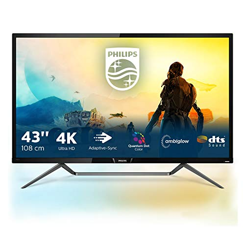 Philips 436M6VBPAB - 43 Zoll UHD Gaming Monitor, HDR1000 (3840x2160, 60 Hz, HDMI 2.0, DisplayPort, USB-C, USB Hub) schwarz