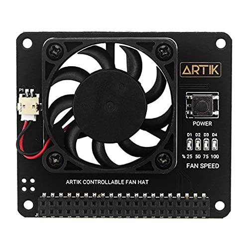 Pumprout Módulo de Ventilador de refrigeración con Software Velocidad Ajustable con Interruptor de Encendido Ventilador de Velocidad Ajustable Módulo Duradero