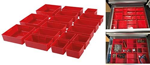 BGS 9550   Kunststoff-Ablagefächer   für Werkstattwagen   17-tlg