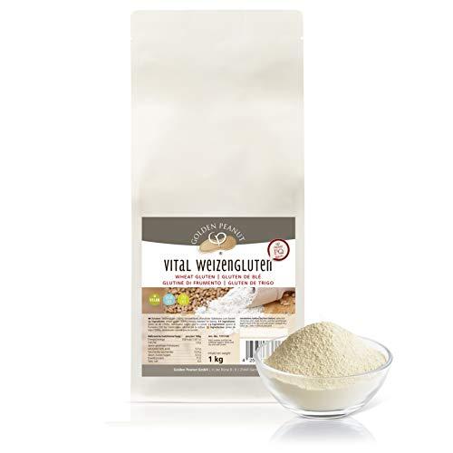 Vital Weizengluten 1 kg natürliches Verdickungsmittel rein pflanzlich | Weizeneiweiß | Seitan | kalorienarme Speisestärke | Backen und Kochen | Golden Peanut