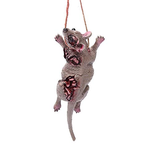 Asien Halloween Horror Props Fake Rat Shape Pendant Necklace For Ghost House Wall Hanging Decor