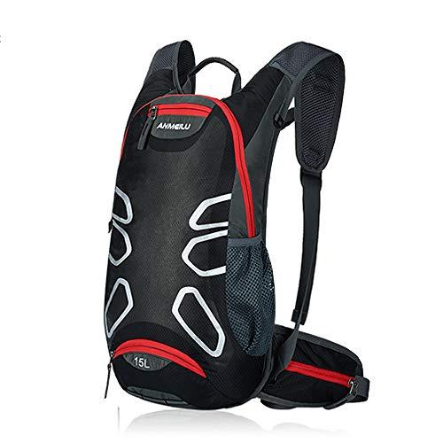 15L Sports Bike Backpack Mountain Bike Road Bike Outdoor Hiking Camping Hiking Bag Rainproof-Black_Other