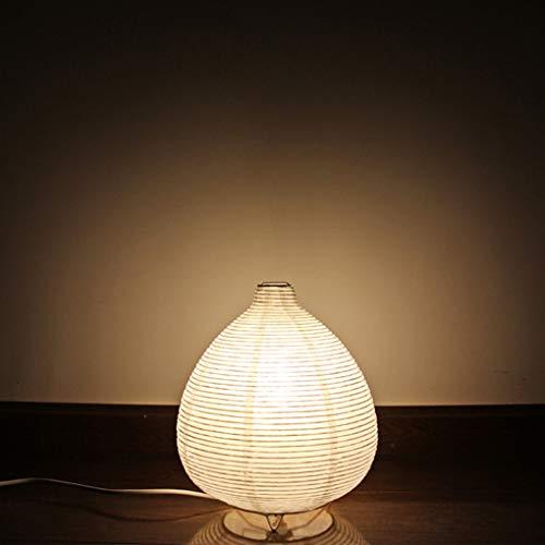 Creativo Papel de arroz Lámpara de mesa Retro Linterna Cuarto Lámpara de noche Minimalismo Moderno Arte Decoración Luz de noche Estudiar Hotel Niños Sala Pequeña Lámpara de escritorio H26 * D24CM