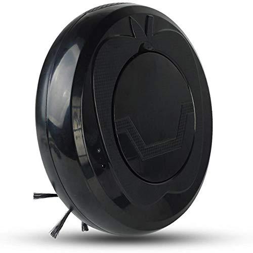 WH Saugroboter Automatische intelligente Reinigung Kehrsauger 3 in 1 ziehen (Color : Schwarz)