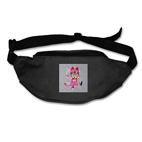 HKUTKUFGU Riñonera para mujeres y hombres Arale Norimaki Cat Maglia Dr Slump Riñonera Bolsa de viaje Billetera Riñonera para correr, ciclismo, senderismo y entrenamiento