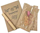 Bread Packaging Kit - Unbleached Parchment Paper Sheets Wheat Design Paper Bread Bags for Homemade Bread Heart-Shaped Kraft Paper Gift Tags 100% Cotton Bakers Twine Gift Wrapping String-Red/White