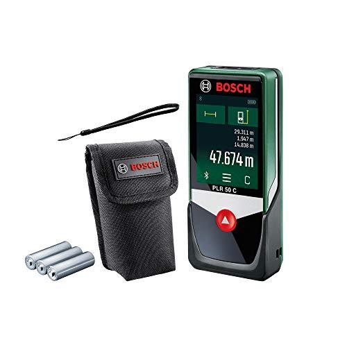 Bosch PLR 50 C laserafstandsmeter 50 m zwart, groen - afstandsmeter (laserafstandsmeter, 50 m, 0,05 m, 2 mm, 9 mm)