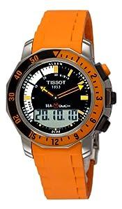 Tissot Men's T0264201728102 Sea-Touch Orange Chronograph Touch Dial Watch