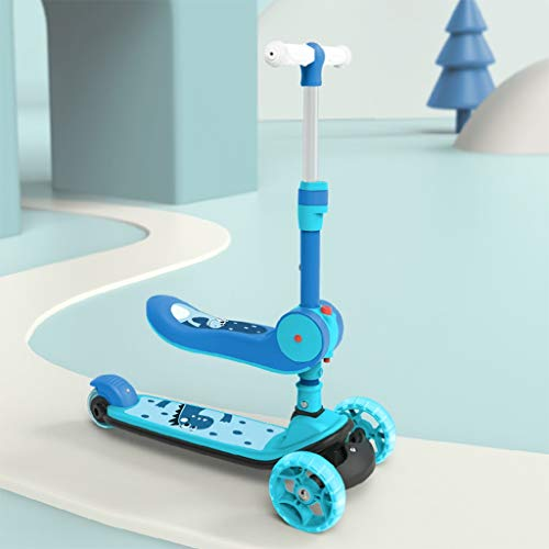 Sale!! Scooters Self Balancing Picnic Children Travel 3-in-1 Folding Single Pedal 3-14 Year Old Male...