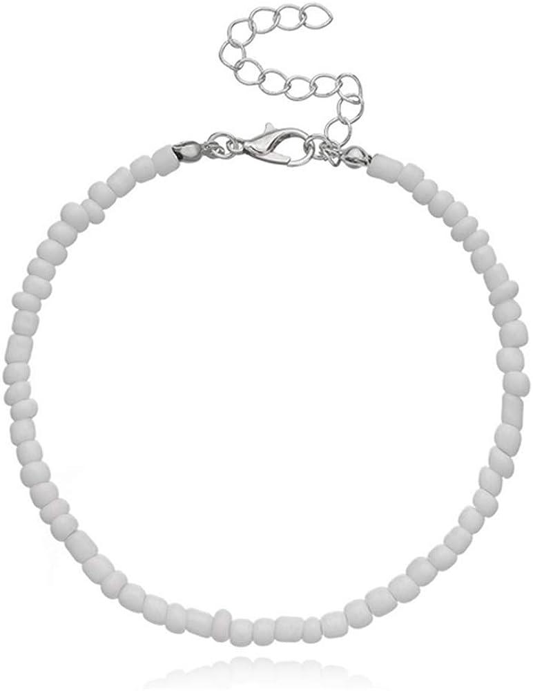 NIDEZHI Beach Anklet Bracelet Seed Beaded Anklet Adjustable Anklet Foot Jewelry for Women Girls