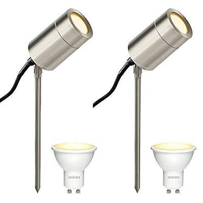Outdoor Spike Light LED Stainless Steel Adjustable PACK of 2 OGD190