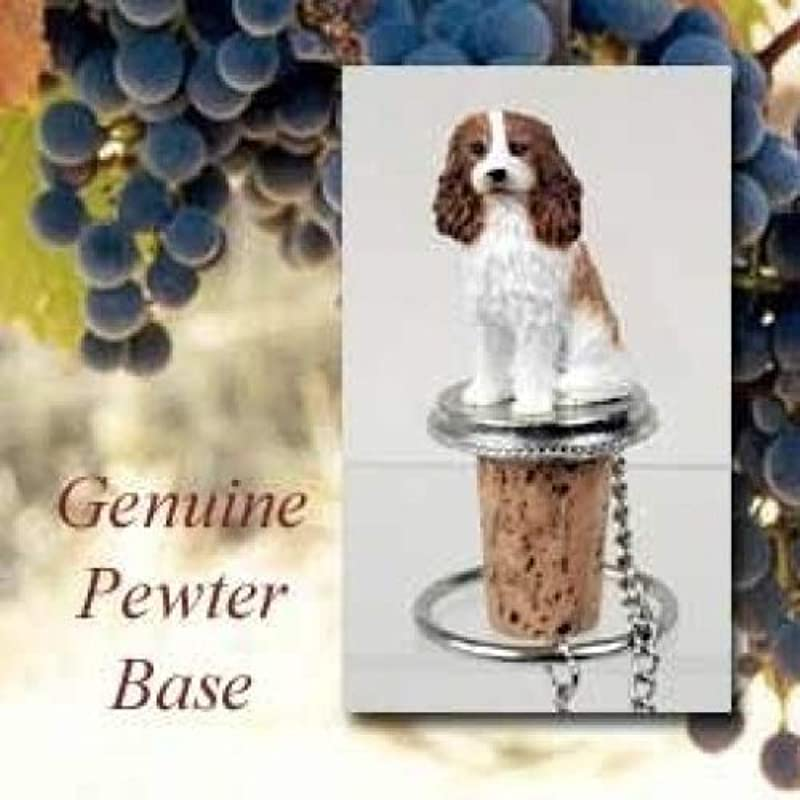 Cavalier King Charles Spaniel Dog Wine Bottle Stopper Brown