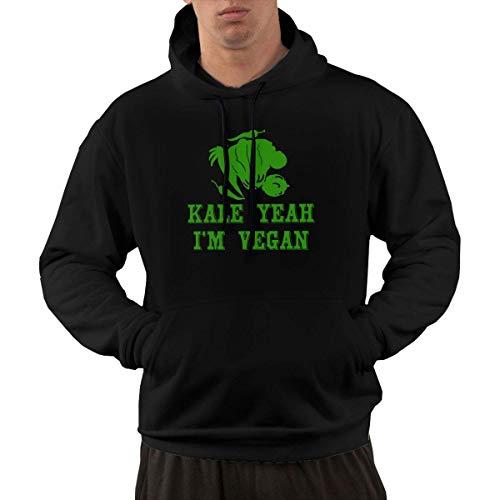 shenguang Kale Ja, ich Bin Vegan Men´s Hoodie Vintage Hooded Sweatshirts