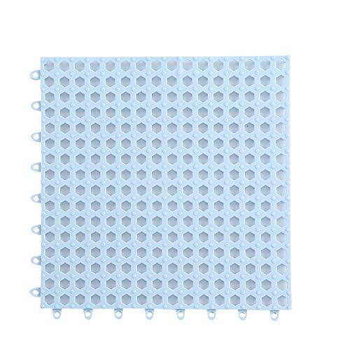 Creativee 4 Alfombrillas de Ducha Modulares Entrelazadas de 30 x 30 cm, Antideslizantes para Eempalme de Baldosas, Iimpermeables, para Drenaje, Piscina, Ducha, Baño, Cocina(Azul)