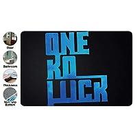 3D One Ok Rock4 ドアマット 洗える 吸水 速乾 滑り止め オールシーズン適用 (39.88 X 59.7cm)