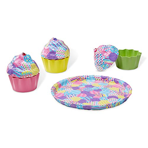 Melissa & Doug Decoupage Made Easy Cupcake Paper Mache Deluxe Craft Kit With Stickers (3 Trinket Boxes, Tray)