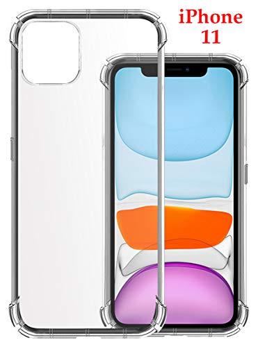 Jkobi Silicon Flexible Shockproof Corner TPU Back Case Cover for Apple iPhone 11 -Transparent