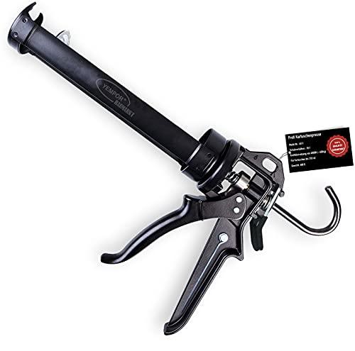 YEMPOR Kartuschenpresse Druck 400KG Silikonpistole Silikonspritze mit 18:1 Hebelübersetzung Kartuschenpistole zum verarbeiten von sämtlichen 310ml aller Dicht- und Klebstoffkartuschen