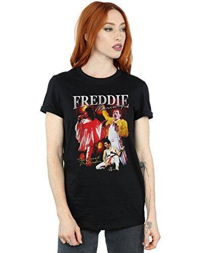 LAdies Freddie Mercury Homage T-shirt, Boyfriend Fit, S to 3XL