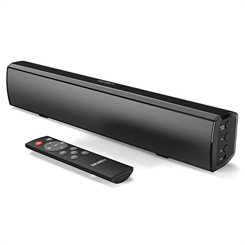 Majority Bowfell Small Sound Bar for TV with Bluetooth, RCA, USB, Opt, AUX Connection, Mini Sound/Audio System for TV Speakers/Home Theater, Gaming, Projectors, 50 watt, 15 inch