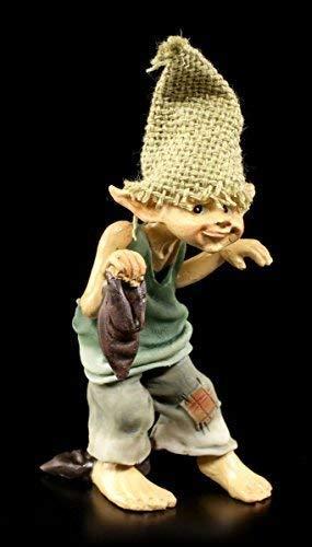 Süße Pixie Kobold Figur barfuß - Pssssst! | Gnom Zwerg lustig