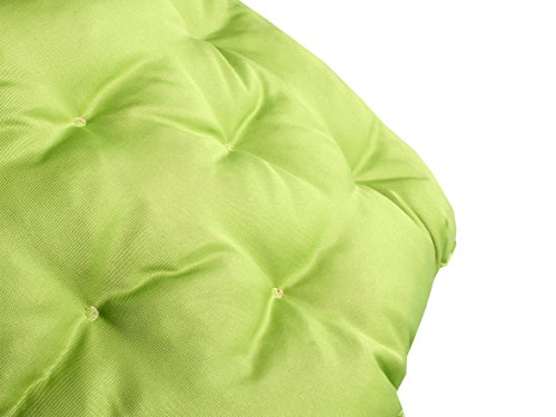 Meerweh Auflage mit Rückenteil für Bank, Wendekissen Polsterauflage Bankauflage, grün, 100 x 98 x 12 cm, 74082 - 6