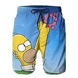 JJKKFG-H Simpson Homer - Pantalones cortos de natación para hombre Blanco blanco M