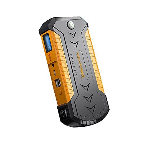 Wenxu Arrancador de emergencia para coche, color amarillo, portátil, ABS, 20.000 mAh, batería de arranque multifunción