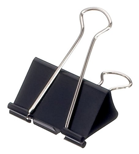 Maul Original Mauly Klemmer 25 mm, Lifehack-Klemmer, Klemmweite 9 mm, 2142590, Karton 12 Stück, Schwarz