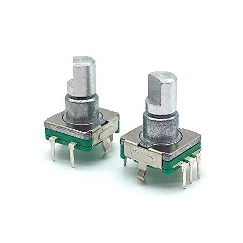 Yanqhua Interruptor Giratorio 5pcs EC11 Codificador Interruptor con Interruptor de botón pulsador 30 Posición Codificador Giratorio Interruptor de código 5pin Tipo de Enchufe 12.5mm Medio Eje