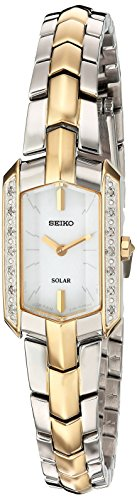 Seiko Women's Tressia Japanese-Quartz Watch with Stainless-Steel Strap, Two Tone, 10 (Model: SUP358)