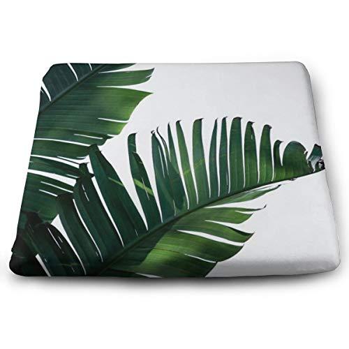 Cojín cuadrado sólido de hojas de palma, cojín para silla, cojín de suelo tatami para yoga, meditación, sala de estar, balcón, oficina, exteriores, 15 x 13,7 pulgadas