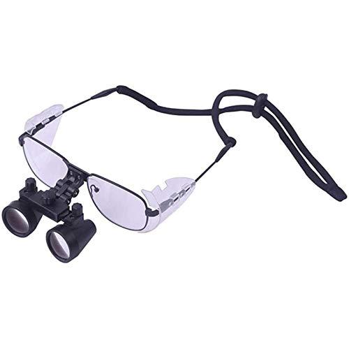 YZJYB Lupas binoculares quirúrgicas 2,5X/3,5X Vidrio óptico Lente de Aumento portátil Espejo dentales protección médica Anteojos para Cirugía Dental Cerebral Operación,3.5X